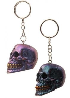 Sugar Skull Key Ring Big Green Daisy Eyes Pendant Charm Key Chain Accessory Sugar Skull Gift