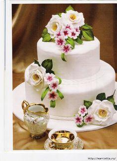 Лепка для торта. Цветы из сахарной мастики или марципана