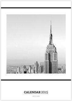 NEW YORK // Calendar OUT NOW featuring a selection of black and white New York captures, in a minimalist style.