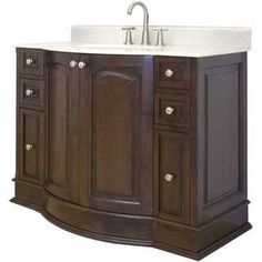 Shop for 42-in. W x 22-in. D Birch Wood-Veneer Vanity Set In Walnut. Get free delivery at Overstock.com - Your Online Furniture Outlet Store! Get 5% in rewards with Club O!