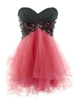 Fashion Lace Ball Gown Sweetheart Mini Prom Dress-Watermelon red