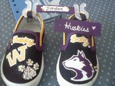 University of Washington Husky Baby Shoes