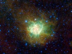 The aptly named Cocoon nebula is featured in this image from NASA's Wide-field Infrared Survey Explorer. This cloud of dust and gas is located in the constellation Cygnus, and is wrapped in a dark cloud of dust called Barnard Epoch Time, Light Pollution, Space Images, Paranormal, Astronomy, Cosmic, Nasa, Galaxies, Sci Fi