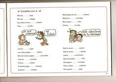 """Ejercicio para practicar el uso de la preposición """"a""""."""
