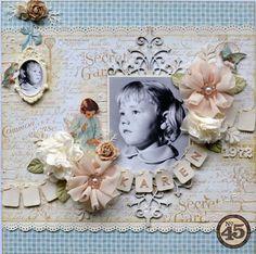 Beautiful Secret Garden layout by Karen! Amazing! #graphic45 #layouts