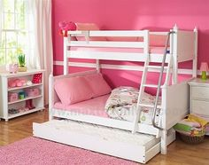 Maxtrix Twin/Full Bunk Bed w/ Ang. Ladder & Trundle