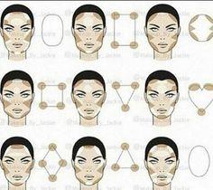 15 Trendy makeup face charts beauty make up Contour Makeup, Contouring And Highlighting, Skin Makeup, Contouring Round Face, Contouring Guide, Contouring Tutorial, Contouring Products, Nose Contouring, Eyebrow Tutorial