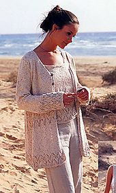 Ravelry: 65-21 a Cardigan with lace pattern pattern by DROPS design