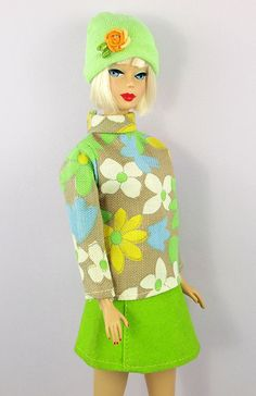 Barbie Floral Mod Girl Top