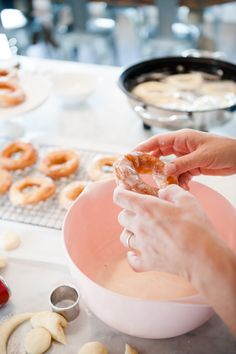 Many of you have fond memories of a Grandma or Great Grandmother making your favorite dish in the kitchen… We loved watching our Great Grandma make spud-nuts in her darling little kitchen with pink countertops! She used to make 100's of these donuts for all occasions. When we were deciding what to make for this...Read More »