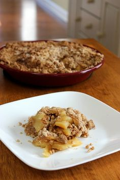 I got this recipe from another Military Wife when we lived at Camp Lejeune. She was having a Pampered Chef party and I was invited. I went because I LOVE to cook and really needed to make some friends in the area! She had made this and even tough I'm not a fan of apple...