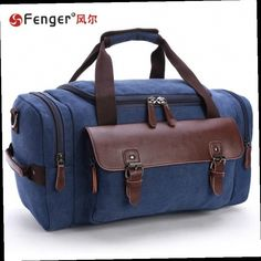 41.23$  Buy here - http://ali938.worldwells.pw/go.php?t=32778543965 - Men's fashion big bag Canvas Travel Bags Large-capacity suitcase Men's shoulder bag black,dark blue duffle bags