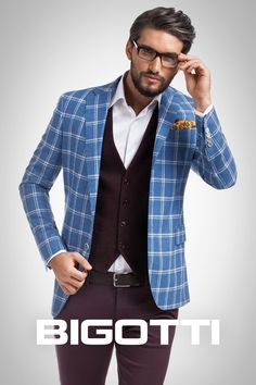 #Resonate with #sunny #days #choosing to #wear a #blue #jacket . #Temper its #glow with #shades of #burgundy - the #effect will be an #exceptional #one ! #Available in #Bigotti #men #clothing #stores and on www.bigotti.ro