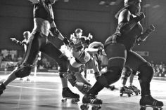 Rollerderby girls -  an illustration of beauty & strength at any size.