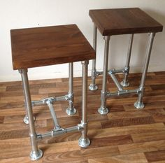 Industrial Vintage Scaffold Style Pipe High Bar Stool   eBay