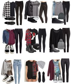 first day of school outfit tumblr - Google Search (minus band tees)