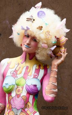 candy body painting