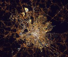 Brussels, Belgium, as seen from the International Space Station, October Hubble Images, International Space Station, Night City, Space Exploration, Game Design, Beautiful World, Bald Eagle, Twitter, Landscape Photography