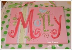 custom wall art name canvas name sign name plaque by ladeedahart, $34.99