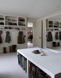 Shelf/hook configuration Hampshire residence, UK. Thorp Design, London. Richard Powers photo.