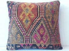 40 YEARS OLD DECORATIVE PILLOW KILIM PILLOW COVER by DECOLIC, $45.00