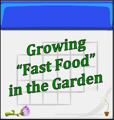 There are many plants that grow quickly and are perfectly edible before they mature. Here are some ideas for growing fast food in your garden with ease!