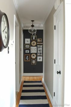 Accent wall at end of hall, link to light at Lowes