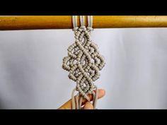 DIY MACRAME - MACRAME TUTORIAL - YouTube Macrame Wall Hanging Patterns, Macrame Art, Macrame Design, Macrame Projects, Macrame Patterns, Macrame Jewelry, Diy Lace Ribbon Flowers, Macrame Curtain, Bracelet Patterns