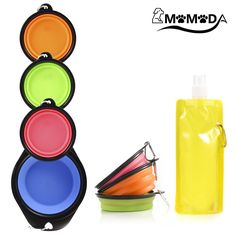 Collapsible Dog Bowl, Silicone Pop-up Travel Bowl for Dog and Cat Bowls, with Water Bottle and Carabiner,Set of 4(1 Extra Large and 3 Small ) >>> To view further for this item, visit the image link. (This is an affiliate link and I receive a commission for the sales)