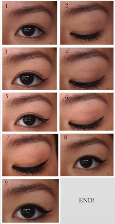 How to get the perfect winged liner for Asian eyelids!