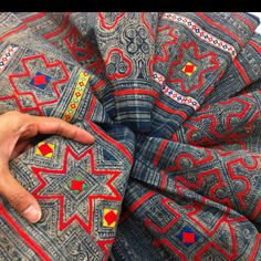 Tradition hmong textile a piese of skirt from Vietnam #hmong #Vietnam #textiles