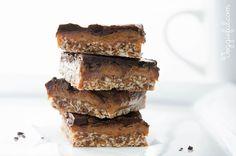 Healthier Chocolate Caramel Slice {Raw + Vegan + Gluten-Free}