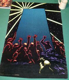 1974 Karl Kofoed Blacklight Poster #Vintage