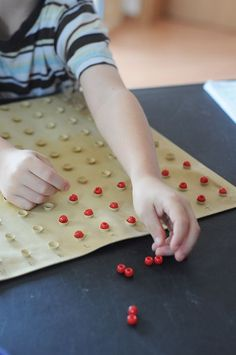 How To Use The Montessori Multiplication Bead Board  and how to make one yourself