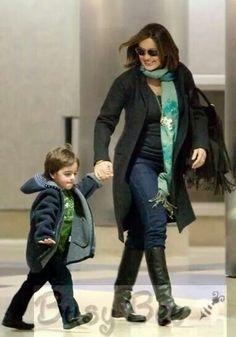 Mariska Hargitay with her son August