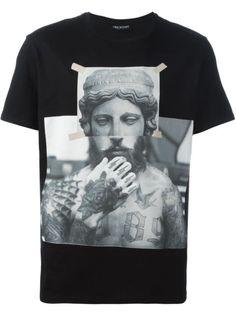 Neil Barrett Camiseta com estampa