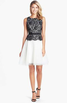 Eliza J Lace Bodice Fit & Flare Dress | Nordstrom
