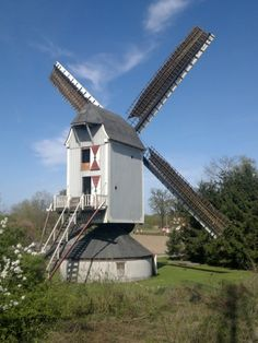 Flour mill, Sint Antoniusmolen, Kessel, the Netherlands.