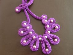 Purple & beads by madebysonia on Etsy, $25.00