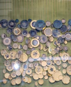 Pretty wall of plates!