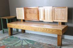 A Cabinet Door Bench