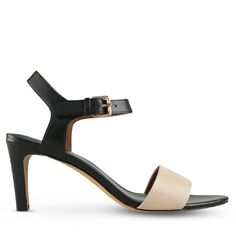 Crafted from a contemporary combination of black and nude leather, these pretty little heels are a modern update to a day wear staple. With an elegant little 8.5cm* heel, Hovan are perfect for all day and into the evening.  Leather Upper Leather Lining