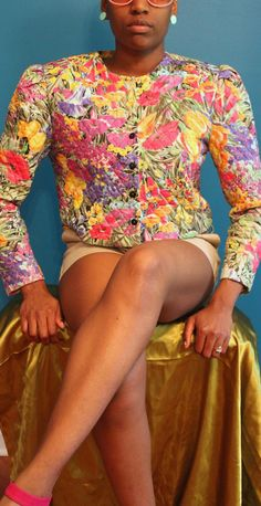 Jeffery & Dara   #floral #vintage #quilted #jacket    thriftionary.storenvy.com
