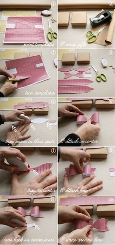 #packaging Paper Bow #tutorial