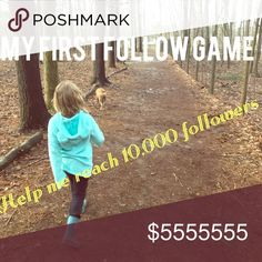 Thanks everyone!! 🦄🐵🐸🐸🐢 So much Posh ❤️ If you already liked this FG be sure to go through and follow any new people!!  Follow game! Help me reach 10,000 followers! I'm new(er) to Posh, just started in November and am really trying to build my business. Thanks so much for all the love!!! 🦄 1. Follow me 2. Like this post 3. Follow everyone who likes this post 4. Share share share!! 😝 Other