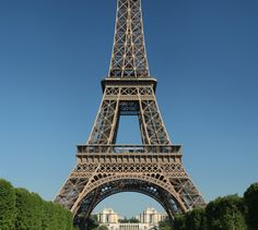 Eiffel Tower - decorative arch on lower lever, all other structures necessary