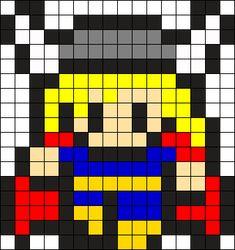 Thor Perler Bead Pattern / Bead Sprite