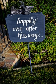 happily ever after this way...