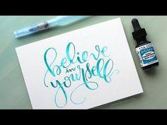 Watercolor Brush Lettering Using a Light Pad – kwernerdesign blog