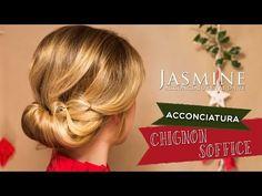 Chignon soffice | Acconciatura per Natale | Le Acconciature di Jasmine - YouTube